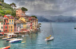 Genoa Portofino hdr. Italy autumn sky Royalty Free Stock Photos