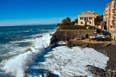 Genoa's coast. The Genoan coast near the district of Quinto stock photos