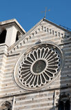 Genoa, S.Lorenzo Cathedral, Romanesque rose window Royalty Free Stock Photography