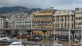 Genoa's Old Port stock video footage
