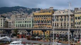 Genoa's Old Port stock footage