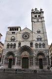 Genoa San Lorenzo cathedral's Stock Image