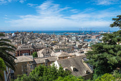 Genoa scenic panorama, Ligurian coast, Italy Stock Photos