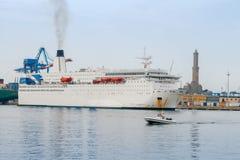 Genoa. Sea port. Royalty Free Stock Images