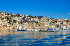 Genoa from the sea Royalty Free Stock Photography