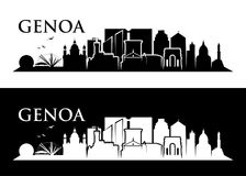 Genoa skyline - Italy - vector illustration. Genoa skyline - Italy - Europe city Royalty Free Stock Photography