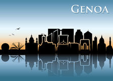 Genoa skyline - Italy - vector illustration. Genoa skyline - Italy - Europe city Stock Image