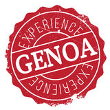 Genoa stamp rubber grunge. Genoa stamp. Grunge design with dust scratches. Effects can be easily removed for a clean, crisp look. Color is easily changed Royalty Free Stock Photography