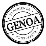 Genoa stamp rubber grunge. Genoa stamp. Grunge design with dust scratches. Effects can be easily removed for a clean, crisp look. Color is easily changed Stock Image