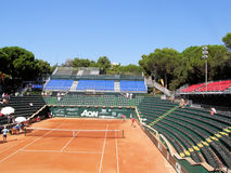 Genoa Tennis Stadium. Landscape of Genoa tennis central court stadium (Italy Royalty Free Stock Photography