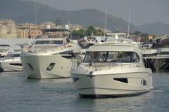 Genoa, 57th edição da mostra internacional do barco foto de stock