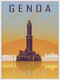 Genoa Vintage Poster Stock Image