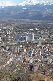 Genoble aerial view. France Royalty Free Stock Image