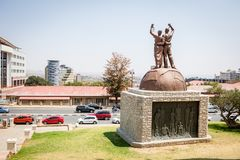 Genocide Monument in Windhoek, Namibia stock photo