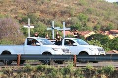 Genoeg--genoeg, de anticampagne Rustenburg, Zuiden van de landbouwersmoord Stock Foto