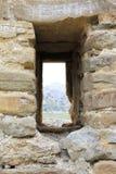 Genoese крепость, амбразура Стоковое Изображение RF