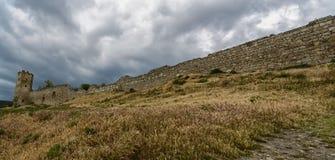 Genoese крепость Kafa, Feodosiya, Крым Стоковые Изображения RF