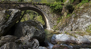 Genoese bridge in Corsica Stock Photos