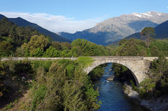 Genoese bridge in Corsica Royalty Free Stock Images