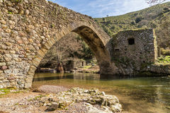 Genoese bridge at Piana in Corsica Stock Image