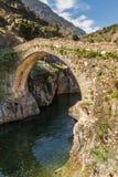 Genoese bro på Asco i Korsika royaltyfria foton