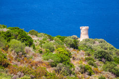 Genoese Campanella tower, Corsica, France Royalty Free Stock Photos