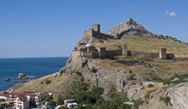 Genoese Castle in the Crimea Royalty Free Stock Photography