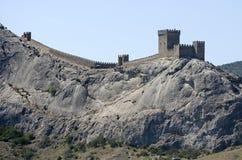 Genoese fästning i Sudak Royaltyfri Fotografi