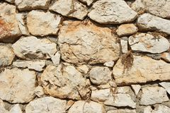 Genoese Festungswandfragment stockfotos