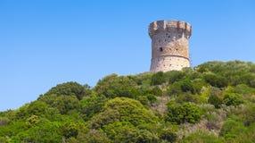 Genoese Fort auf Korsika-Insel, Frankreich Lizenzfreies Stockbild