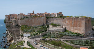 The genoese fortress of Bonifacio Stock Photo