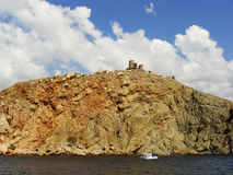 Genoese fortress Cembalo, Balaklava, Crimea Stock Images