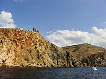 Genoese fortress Cembalo, Balaklava, Crimea Royalty Free Stock Image