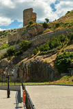 Genoese fortress Cembalo built beginning in 1357. Royalty Free Stock Images