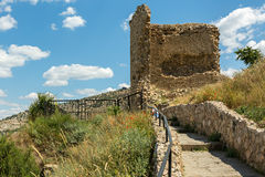 Genoese fortress Cembalo built beginning in 1357. Royalty Free Stock Photography