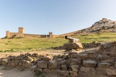 Genoese fortress in the city of Sudak Stock Image