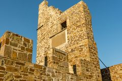 Genoese fortress in the city of Sudak Stock Images