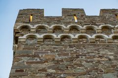 Genoese fortress in the city of Sudak Royalty Free Stock Photos