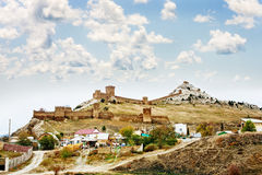 Genoese fortress in Crimea Stock Image