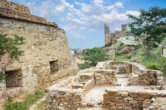 Genoese fortress in Crimea Royalty Free Stock Photos