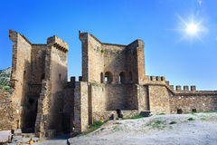 Genoese fortress in Crimea Royalty Free Stock Images