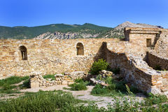 Genoese fortress in Crimea Royalty Free Stock Photo