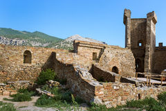 Genoese fortress in Crimea Stock Photo