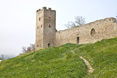 Genoese fortress in Feodosia stock image