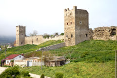 Genoese fortress in Feodosia stock photography