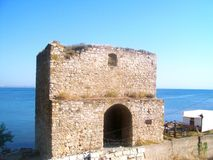 Genoese fortress in Feodosia Stock Images