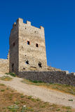 Genoese fortress in Feodosia Royalty Free Stock Image