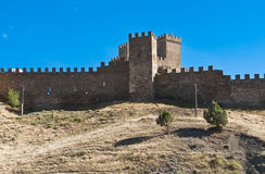 Genoese fortress in Sudac. Stock Images