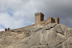 Genoese fortress in Sudak, Crimea Royalty Free Stock Image