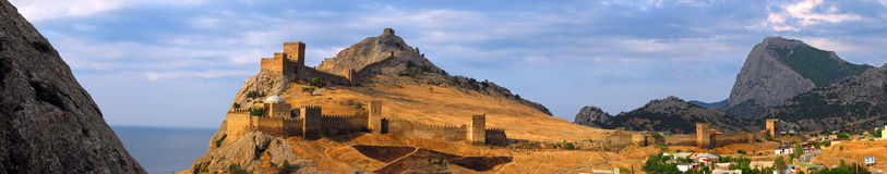 Genoese fortress. In Sudak, Crimea Stock Photography